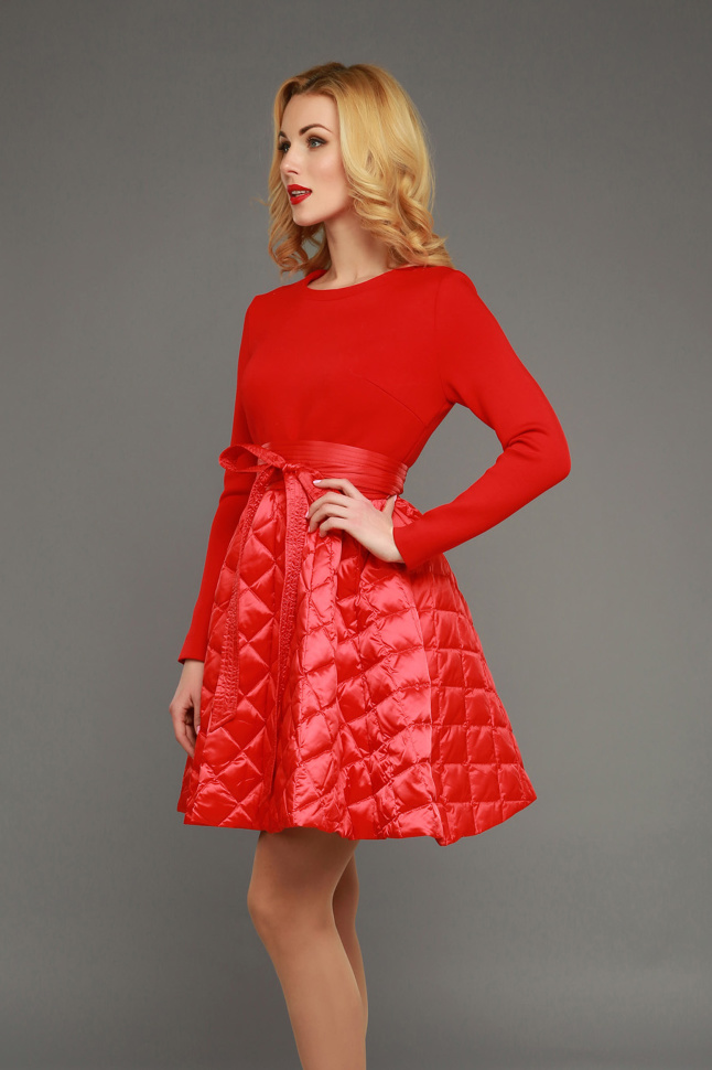 be01dea82c3 Платье клеш WF15 J 014 красное купить недорого в интернет магазине