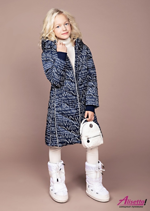 Пуховик PRINCESS NAUMI 237 M Print Miss Navy