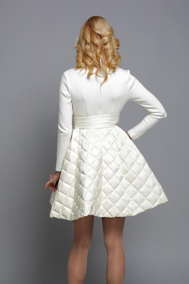 10216ede73f Платье клеш WF15 J 014 айвори купить недорого в интернет магазине