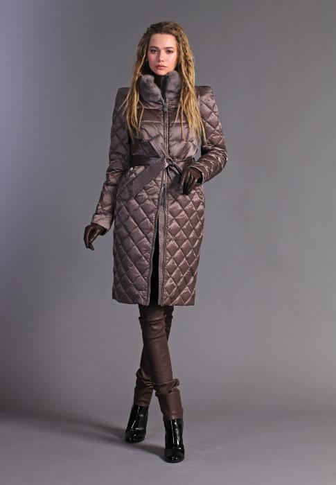 Пальто NAUMI N17 74 01 TAUPE - бежевый