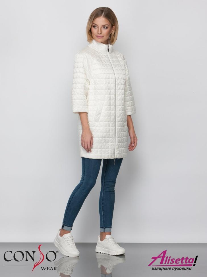 83b62540aeb Купите недорого женскую куртку Conso SM 190113 coconut milk с ...