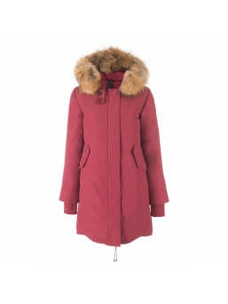 Парка женская AIRFORCE 16W1655 Tibet Red Basic Fishtail Long Parka