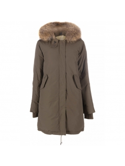 Парка женская AIRFORCE 16W1655 Army Green Basic Fishtail Long Parka