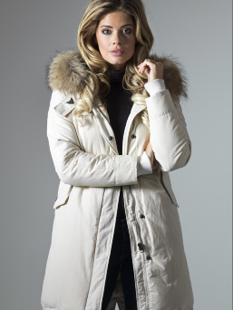 Парка женская AIRFORCE 16W1655 Angora White Basic Fishtail Long Parka