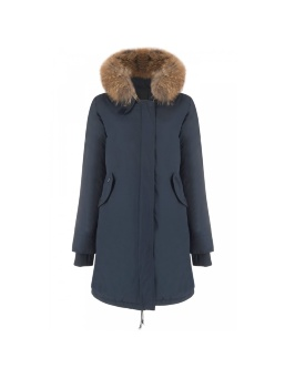 Парка женская AIRFORCE 16W1655 Indigo Blue Basic Fishtail Long Parka