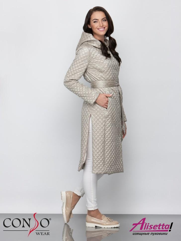 0d9ff5bbe2f60 Купите недорого женское пальто Conso SL 190107 beige с доставкой и ...