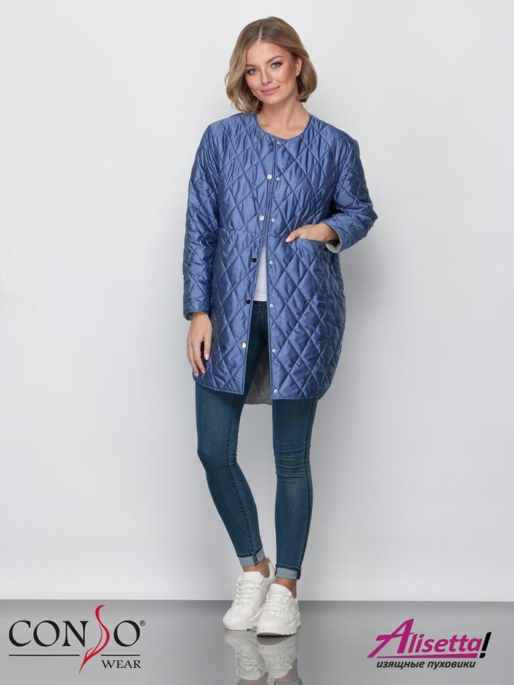 e5602f3efe4 Купите недорого женскую куртку Conso SM 190117 blue с доставкой и ...