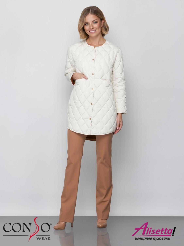 1093fe26692 Купите недорого женскую куртку Conso SM 190117 milkshake с доставкой ...