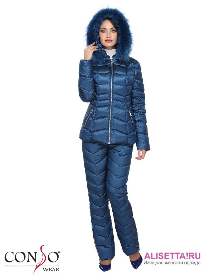 Женский синий костюм доставка