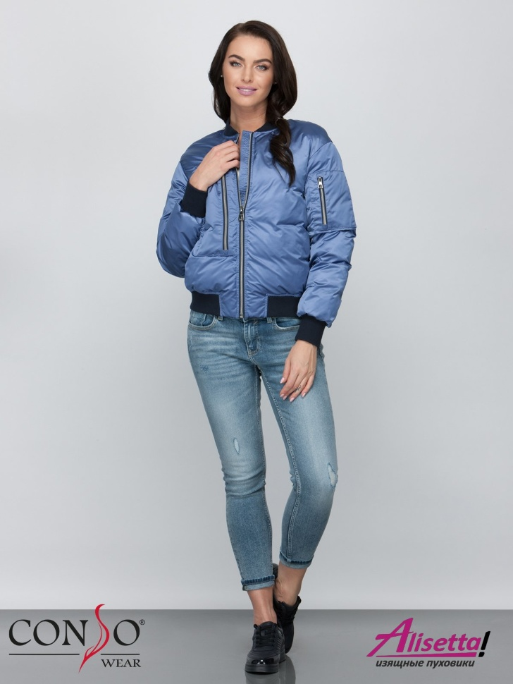 1e83cfab5bc Купите недорого женскую куртку Conso SS 190124 blue с доставкой и ...